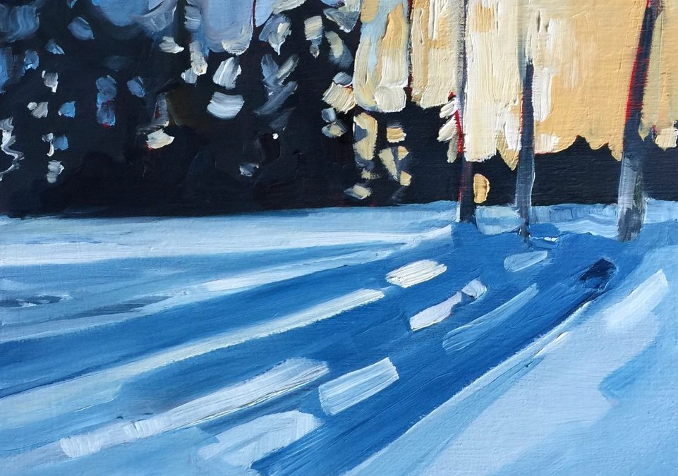 Winter Landscape Painting with Holly Ann Friesen