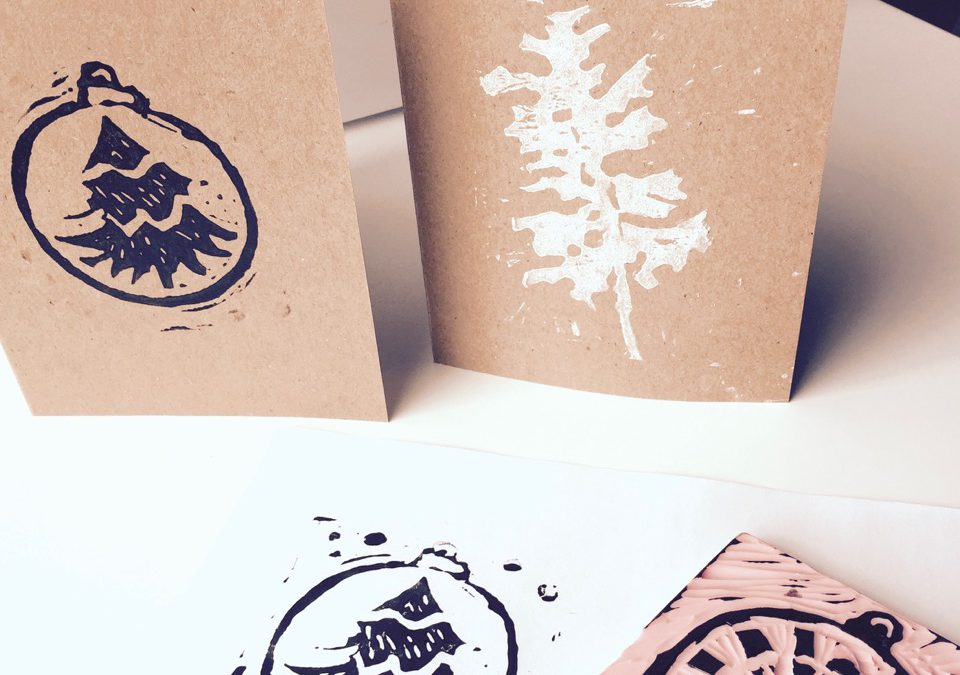 Printmaking: Holiday Cards with Holly Ann Friesen (ages  9-14)