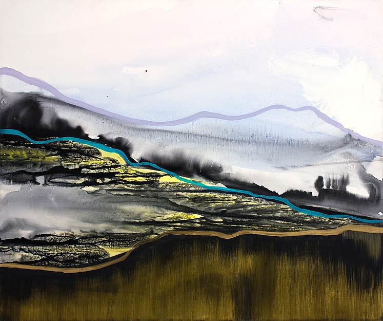 "abstract landscape ""Northern Reverie"" by Shelby Dawn Smith"
