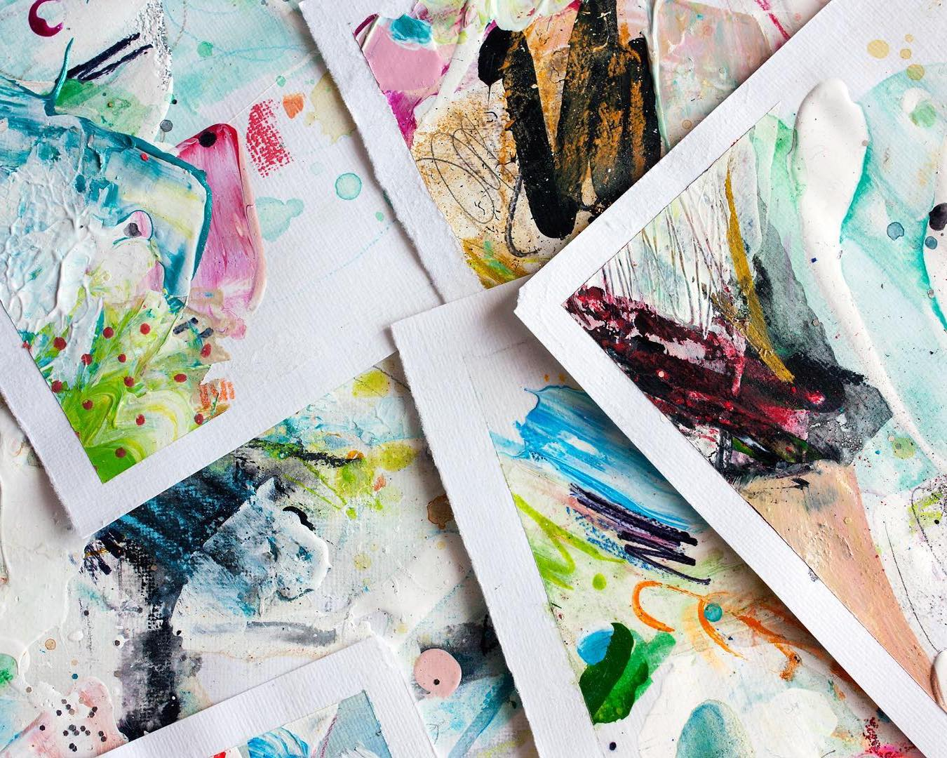 works on paper mixed media by Shelby Dawn Smith