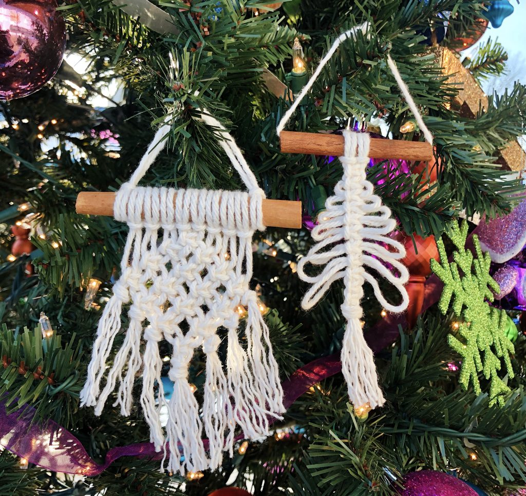 Mini Macrame Ornaments with Knotted by Linds