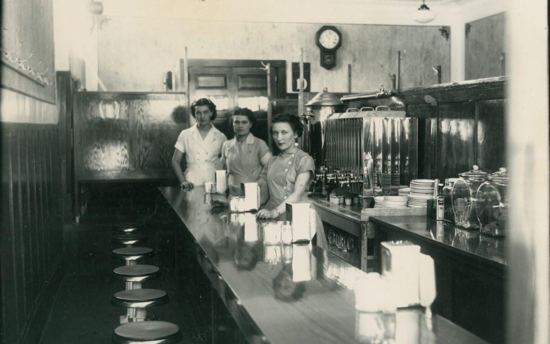 Inside Ken's Cafe (c1940s)