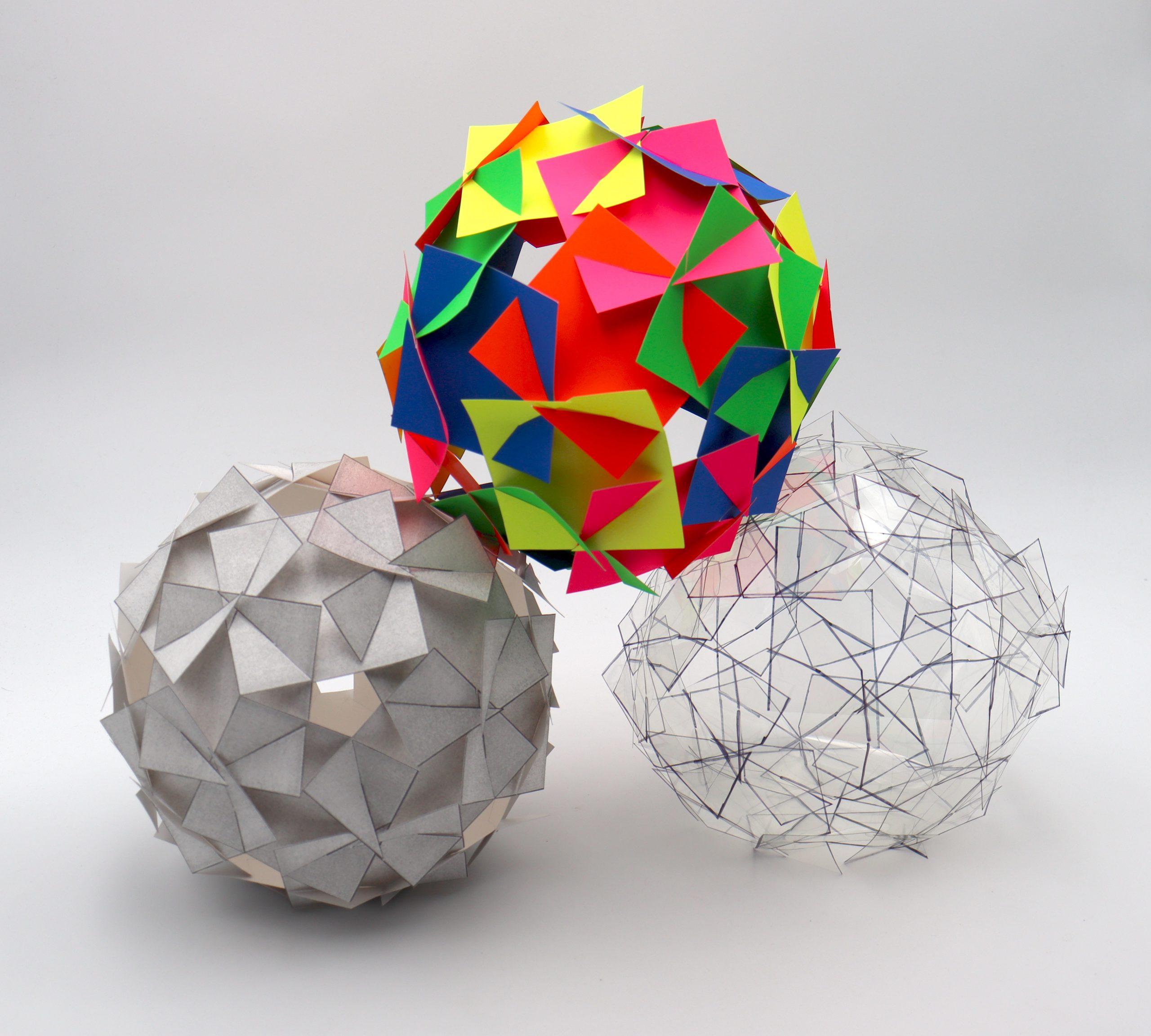 sample of geometric paper craft 30 square orb