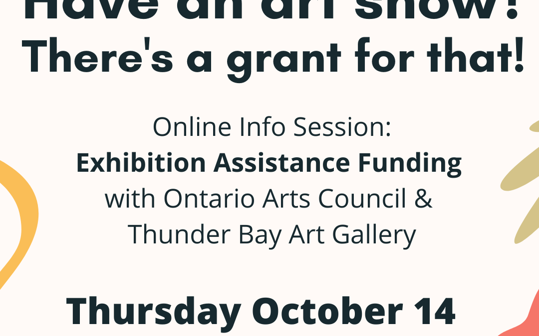 Info Session: Exhibition Assistance Funding with the Ontario Arts Council